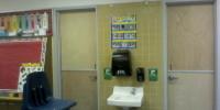 Restroom dutch doors after 1