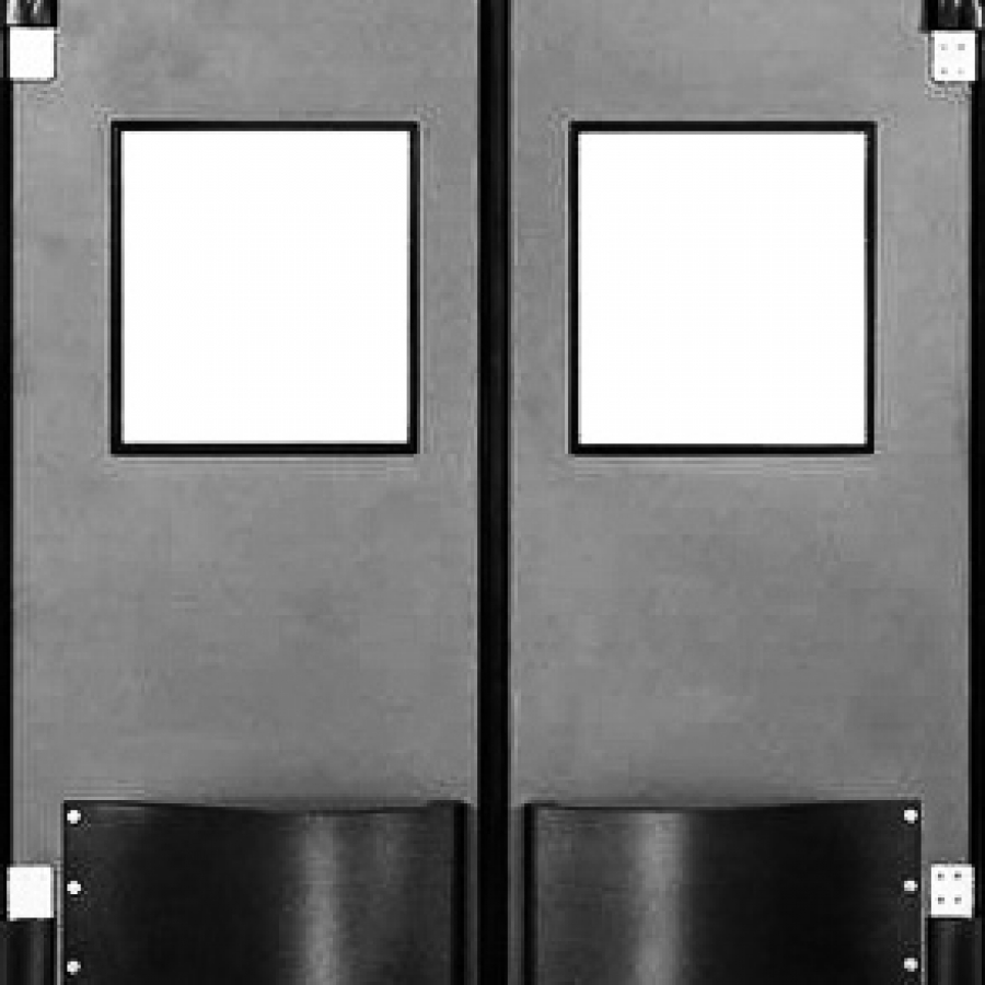 Barr commercial doors orange county san bernardino riverside impact doors traffic doors - Commercial double swing doors ...