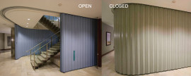 won-doors accordion fireguard doors