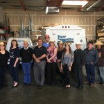 inland empire barr commercial doors staff on funny hat day