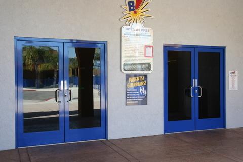 glass aluminum doors