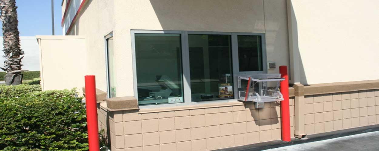 drive through and pass through security doors and windows