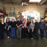 entire staff of barr commercial doors in orange county office